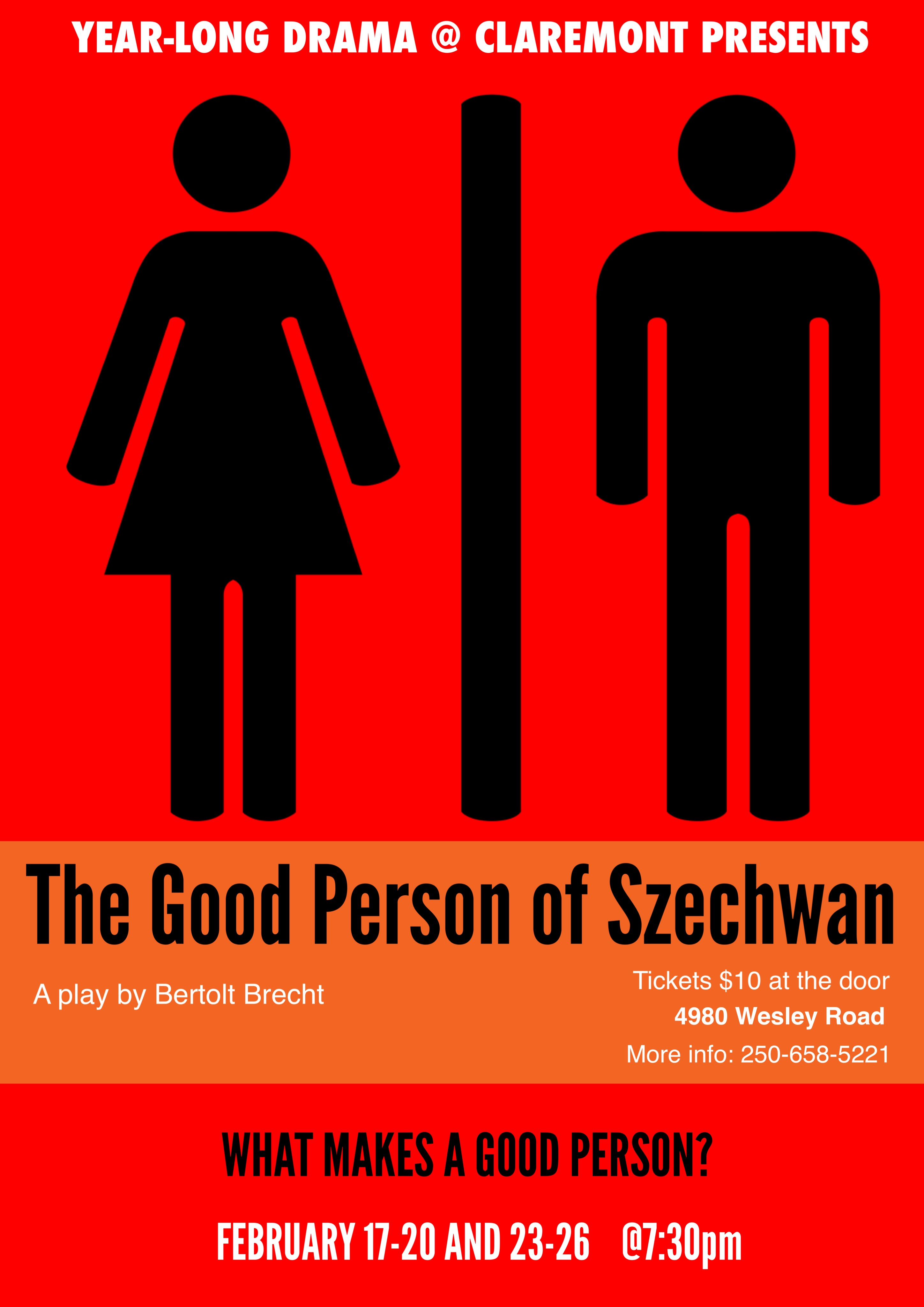 empathy in brechts the good person of A co-production between the malthouse theatre and the national theatre of china, the good person of szechuan is directed by director meng jinghui meng is a bit of a rock star in contemporary.