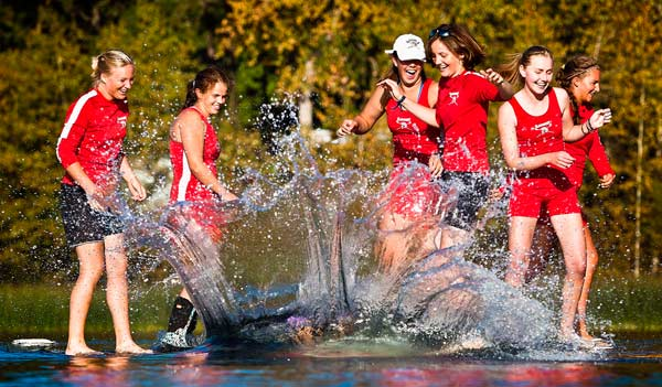 """Traditional """"Toss of the Coxswain"""""""