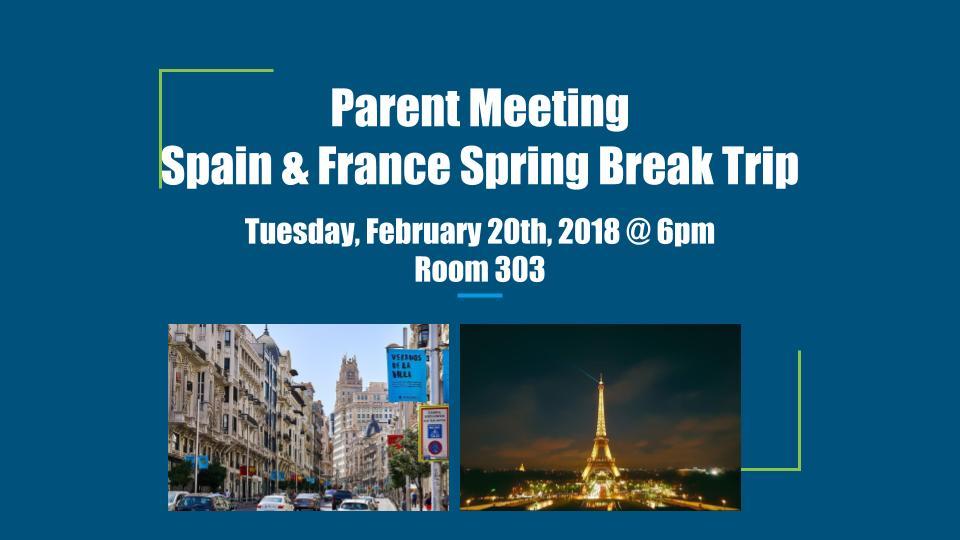 Spain France Trip Poster