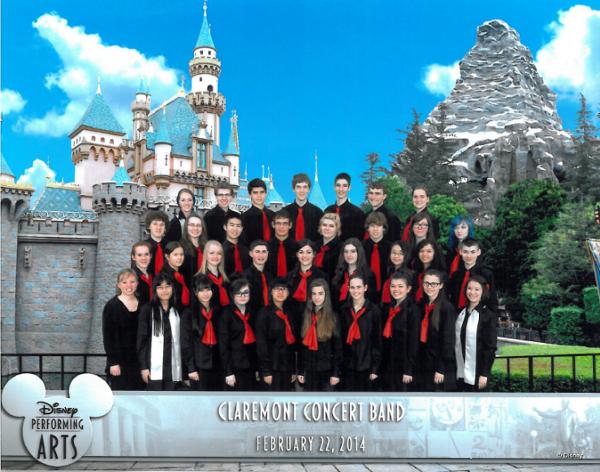 Concert Band Performs at Disneyland