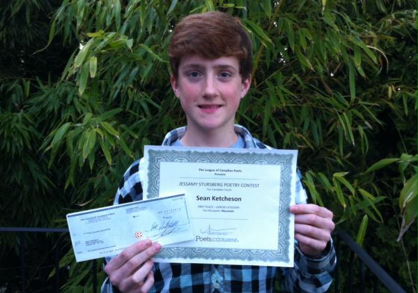Sean Wins Poetry Contest