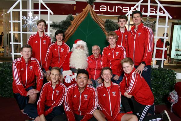 Jr. Boys Volleyball and Santa